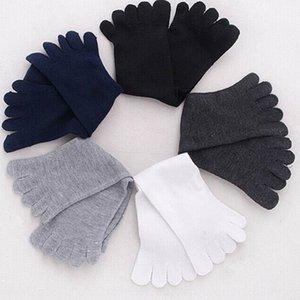 Zhuji autumn five-finger cotton deodorant breathable casual men's solid color warm Warm toe socks five-toe socks