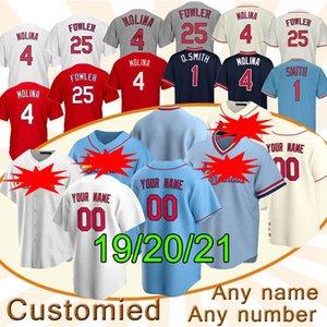 46 Paul Goldschmidt St. Louis Cardinal personnalisé Baseball Jersey 4 Yadier Molina 1 Ozzie Smith 25 Dexter Fowler chemises de baseball de qualité supérieure