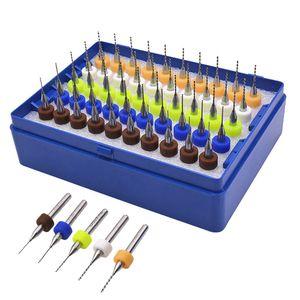 50 adet / set Tungsten Sabit Alaşım PCB Devre Kartı Gravür Aracı Carbide Mikro Uçları Aracı 0.5mm-0.9mm Matkap yazdır