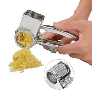 Girando Ralador de Queijo aço inoxidável Slicer Peeler Mão Rotatable Ginger Grater Ferramenta Potato Ferramentas do Tópico Raladores de cozinha