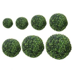 10/15/20 cm erba artificiale sfere topiaria paesaggio simulazione verde appeso palle falso piante bonsai arredamento di nozze a30 c19041302