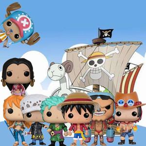 Funko Pop anime japonês: One Piece caráter D.--LEI Luffy ZORO NAMI Chopper FRANKY presente do aniversário do macaco Action Figure brinquedos modelo
