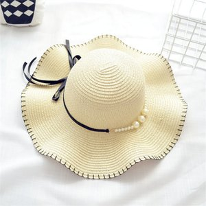 6 colors Newest Fashion Mother and Daughter Caps Butterfly-knotted Family Straw hats girls bucket hat kids foldable beach hats EMS bJY513