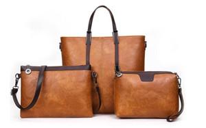 2019 nuevos 3 bolsos / set bolso de mano y monedero de las mujeres del diseñador del bolso del totalizador de las mujeres europeas y americanas del estilo