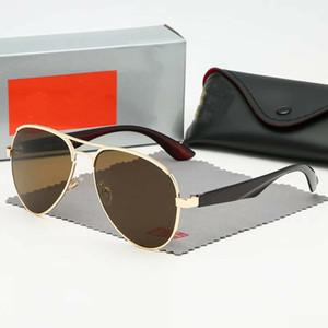 2020 Sıcak Satış Marka Tasarım Güneş Vintage Pilot Marka Güneş Gözlükleri Bant UV400 Erkekler Kadınlar Ben Metal Çerçeve güneş gözlüğü