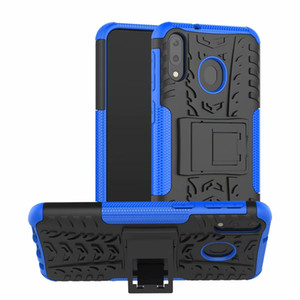 Samsung Galaxy M10 için M20 M30 A10 A30 A50 A70 A20 A80 A90 M40 A60 A40 A10 A10e A20e Sert Kılıf Yumuşak Cilt Zırh Hibrid standı Silikon Telefon Kapak