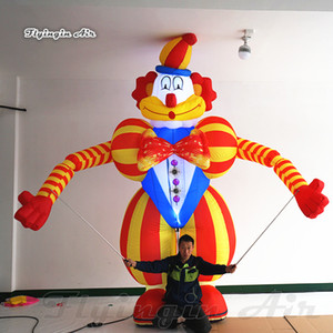 Circus Parade Performance Walking Inflatable Clown Puppet 3.5m Adult Wearable Lighting Blow Up Clown Costume For Show