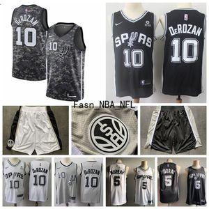 Hommes San AntonioSpurs DeMar DeRozan 10 Ville 2020 Terminé Édition Swingman Jersey Hommes San AntonioSpurs Basketball Jersey Shorts