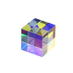 Cor Prism Combiner Splitter Cruz Dichroic k9 ópticos Copo Cubo de gelo Luz Trichroic Prismas de Ensino Spectrum Luz 20 milímetros