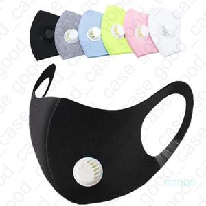 Adulti 3 strati viso Maschere protettive PM2. 5 Antipolvere Anti-Polvere Maschera Con Valvola di respirazione nebbia prevenzione foschia Saliva maschera vendita E4903