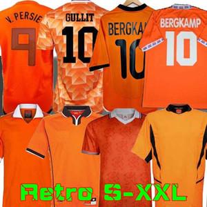 Retro 1988 Netherlands Soccer Jersey 2012 Van Basten 2000 2002 1998 1994 Holland Retro football shirts BERGKAMP 1996 Gullit Rijkaard DAVIDS