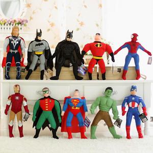 Neue Qualitäts-PP Baumwolle Cartoon The Avengers Plüschtier Captain America Hulk Spider-Man Flugzeuge Spielzeug Action-Figuren für Kinderspielzeug