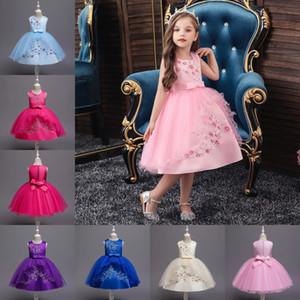 Новой осень Halloween Party Dresses неонатальные Вышитые танцы младенец китайского ретро девушка платье