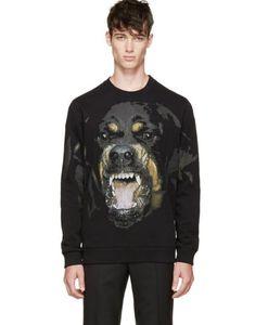 Frühjahr 2019 Mens Hoodies Neue populär Big Dog Print Pullover mit Fleece Pullover für losen Lovers