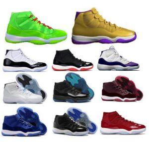 Mens Women 11 11s di pallacanestro delle scarpe da tennis di Jumpman Breed Concords Gamma Leggenda Blu Heiress Velvet Space Jam XI Volt da ginnastica alte Scarpe