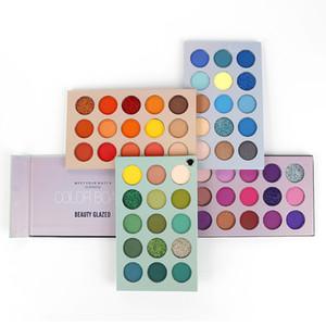 Beauty Glazed 60 Colors Eyeshadow Palette Eye Makeup Matte Pigment Smoky Eyeshadow Palette Waterproof Cosmetics TSLM2