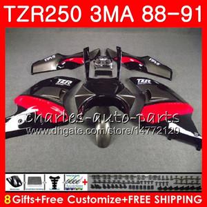 Corps pour YAMAHA TZR250 3MA TZR 250 RS RR YPVS TZR250RR 118HM.84 TZR-250 88 89 90 91 TZR250 1988 1989 1990 1991 Kit carénage capot noir