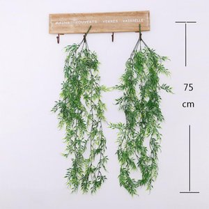 75cm Ivy artificielle Green Leaf Garland plants de vigne Feuillage Faux Accueil Décor plastique fleur artificielle rotin chaîne 3style
