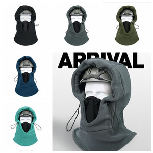 Masken Reiten Maske Kopfbedeckungen Winter Outdoor Sports Ski Fleece Schal Hood Ohr Halsschutz Motorrad-Sturzhelm-Hut Vollmasken LSK643 Wärmen