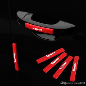 패션 트렌드 4 개 / 세트 자동차 충돌 방지 스트립 자동 도어 범퍼 모서리 보호대 스티커 자동차 스크래치 보호 테이프