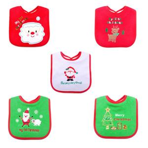 Baby Bibs Multi Styles Waterproof Christmas Cute Cartoon Embroidered Toddler Saliva Towel Infant Feeding Burp Baby Bibs Clothing DH0431 T03t