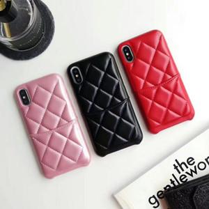 роскошь дизайнер телефон дела для Iphone 11 овчины плед с карты карман задней крышки для iphone XR XS MAX 7 8 PLUS