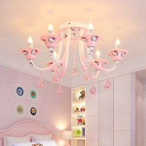 Lampada da soffitto per cameretta per bambini Warm Girl Princess Lampada da soffitto per infissi Kitty Cat Eye Protection Baby Camera da letto Lampada da tavolo a led