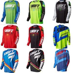 2019 nova mudança Downhill Suit Ciclismo Roupas Men S Long -Sleeved T -Shirt Mountain Bike Off -Estrada Motorcycle Clothing
