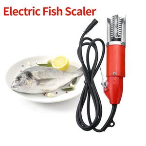 Freeshipping 120 와트 방수 전기 물고기 규모 스크레이퍼 낚시 스케일러 청소 쉬운 물고기 스트리퍼 리무버 청소기 도구 충전 Adapte
