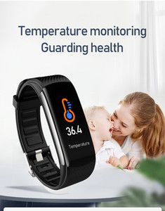 TWGA001 Automatically Temperature monitoring guarding health smart bracelet