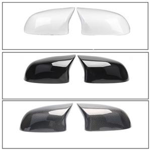 Carbono espelho retrovisor Coloque a tampa da bm w X4 X3 F26 F25 ABS espelho retrovisor substituição da tampa para o X5 X6 F15 F16 2014-2018