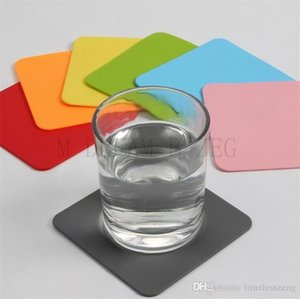 Silicone Coaster Non-Slip Table Mats Square Cup Pad Heat Resistant Silicone Placemats for Cafe Kitchen Restaurant