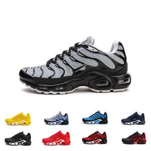 Tamaño 13 Utilidad Mejor TN KPU Plus para hombre de los zapatos corrientes del amortiguador de aire Diseñador Formadores material Chausseures Homme Noir Zapatillaes Sport zapatillas de deporte