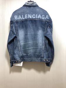 PRIMAVERA 2020 novos homens designer de casaco danificado decoração denim ~ casacos tamanho US ~ designer de moda jaqueta jeans de alta qualidade para homens