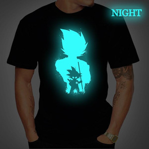 Dragon Ball Mens T Shirt Супер Саян Вегет Гок Luminous Футболка с коротким рукавом тройник Топами Femme Streetwear футболка плюс размер