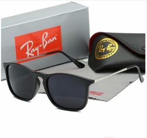 Designer de óculos de sol para homens new arrival Flat Sunglasses mulheres espelho óculos de sol pernas de tartaruga com caixa com o caso 4187