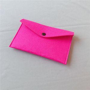 Tasarımcı-cüzdan Yün Erkek ve Bayan cüzdan cebi değişim çanta moda çok fonksiyonlu keçe cep telefonu çantası yaratıcı basit tarzı keçe
