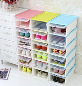 Shoes Storage Box Drawer Style Plastic Shoes Boxes Creative Moisture-proof Transparent Superimposition Male Female Shoes Box