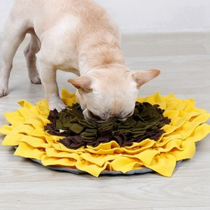 Dog Choking Sniff Training Feed Bowl Mat Sunflower Shape Dogs Cats Snuffle Bowl Mat Costing Energy Slowing Feeding Intelligent