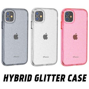 Для iPhone 12 Glitter Clear Heavy Duty Aublise Capord Case для iPhone 12 Pro Max 11 Pro XS MAX XR 7 8 плюс Samsung S20 S21 S30 Plus Note20