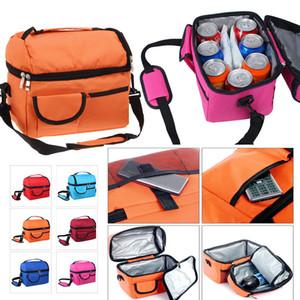 Tragbare große isolierte Lunch-Bag-Box Kühler Bento Tote Aufbewahrungsbeutel Oxford Picknick Tasche Taschen mit Schultergurt
