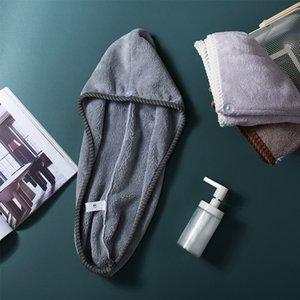 Les femmes cheveux séchage serviette super Absorbent séchage rapide microfibre serviettes de bain cheveux secs Cap Salon séchage rapide