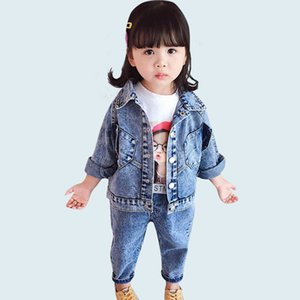 Baby Clothes Girls Denim Jacket + Jeans 2 Pcs Suit For Infant Girls Long Sleeve Girls Outfits Autumn Casual