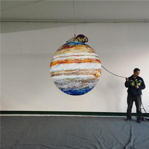 Customized Planet aufblasbare Ballons Inflatables Mond mit LED-Licht für 2020 Werbung Dekor-Party-Decken-Dekoration
