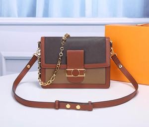 Neue Art und Weise Luxus Messenger Bags Schulter Leder hohe Qualität Handtaschen aus Leder Leinwand Kombination Retro- Hand Handtaschenentwerfers Damen