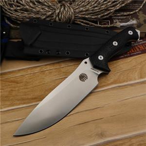 New High End Сильное Выживание прямого нож A2 стало каплепадение сатина лезвие Full Tang Black G10 Handle С Kydex