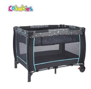 2020 New cobabies European-Style Multi-functional Children Bed Portable Folding Roller Double Layer Crib Mother and Child Supplies