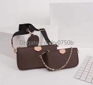 Le nuove borse del progettista 3 piece Le borse di spalla per le donne messenger bag in pelle da donna originale satchel Cross Body Bag borsa pacchetto all'ingrosso