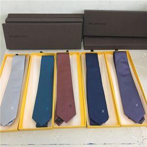 Оптовая высокое качество дизайнер галстук мужской дизайнер галстук мужской свадебный бизнес Шелковый бренд галстук 7 см подарочная коробка упаковка