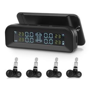 ZEEPIN C260 Lastik Basıncı İzleme Sistemi Güneş TPMS Evrensel 4 Gerçek Sensörler ile Gerçek zamanlı Test LCD Ekran